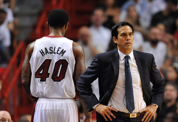 After an early rebounding struggle, Erik Spoelstra went back to Udonis Haslem as a starter.
