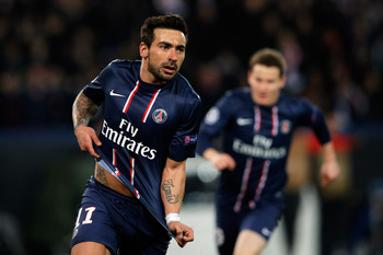 Lavezzi's goal was a relief after his torrid miss v Reims at the weekend