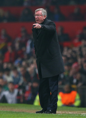 Sir Alex Ferguson, turning a nice shade of red.