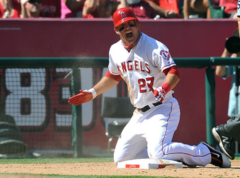 Fresh off winning Rookie of the Year, Mike Trout should be at the top.