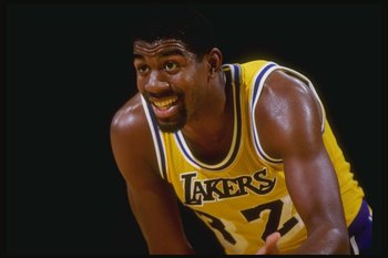 Los Angeles Lakers' Magic Johnson