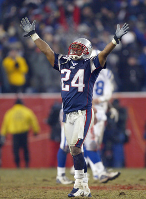 Ty Law had a nice game against Peyton Manning and the Colts in the 2003 AFC Championship Game.