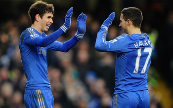 Will it be high fives for Oscar and Hazard at Old Trafford?