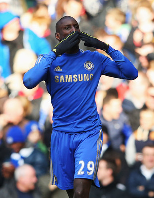 Demba Ba celebrates his strike against West Brom last week. But will he be celebrating come Sunday?