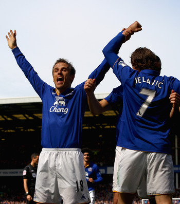 Moyes might bring Neville back into the side following Jagielka's injury predicament