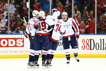 The Capitals' power play unit has celebrated a lot this season.