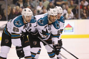 Patrick Marleau is struggling for the Sharks.