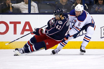 Ryan Whitney has been a disappointment for the Oilers this season.
