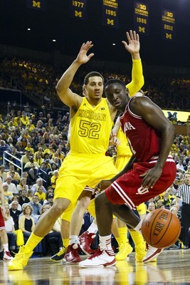 Jordan Morgan's play at the defensive end of the floor sets him apart from the rest of Michigan's big men.