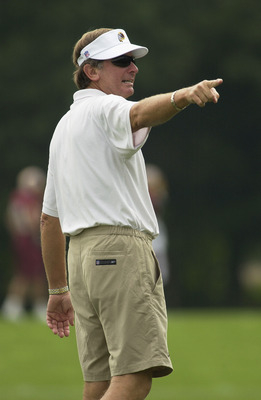 ASHBURN, VA - JULY 28: Head coach Steve Spurrier of the Washington Redskins looks on during the first day of training camp on July 28, 2003 at Redskin Park in Ashburn, Virginia. (Photo by Greg Fiume/Getty Images)