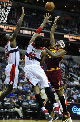 Nene and Emeka Okafor form an intimidating defensive frontcourt.