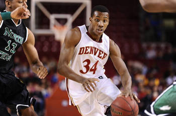 Denver junior forward Chris Odofia. Courtesy: Rich Clarkson and Associates