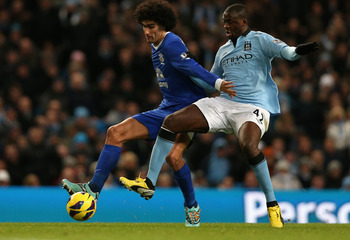 Fellaini and Yaya Toure