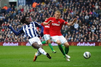 Romelu Lukaku finds the back of the net again for West Bromwich Albion.