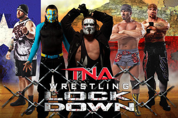 TNA Lockdown 2013 Promotional Poster (Courtesy of 411Mania.com)