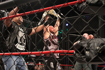 Bully Ray captures the TNA World Heavyweight Championship. (Courtesy of ImpactWrestling.com)