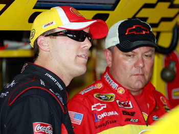 Kevin Harvick (left) and crew chief Gil Martin.