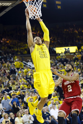 Jordan Morgan nearly recorded the game-winning basket against the Indiana Hoosiers last Sunday.