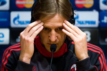 Massimo Ambrosini will hope to lead his team in keeping a good defensive shape against Barcelona.