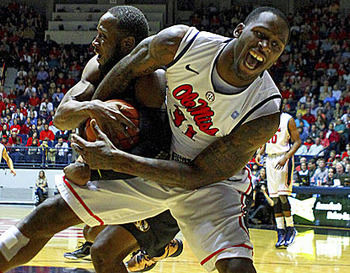 Ole Miss Senior forward Murphy Holloway. (US Presswire)