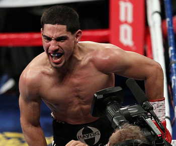 Danny Garcia ecstatic following his knockout victory over Erik Morales.