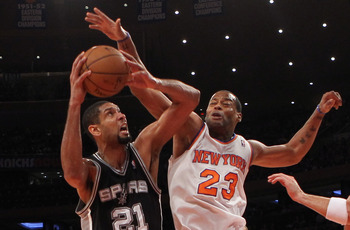 Camby, among other vets, anchor the Knicks' reserve unit down low.