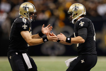 Chase Daniel (right) spent the last few years playing behind Drew Brees (left).