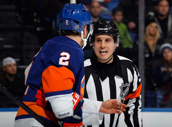 Streit like most Islander fans shows frustrations with the officials.