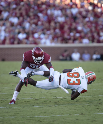 Javon Harris' agility was on full display in Norman on Wednesday.