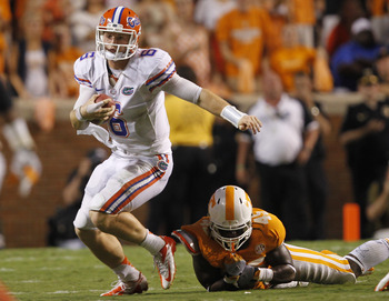 Jeff Driskel was instrumental in the Gators' second half comeback victory against the Vols.