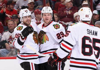 Viktor Stalberg, Bryan Bickell and Andrew Shaw combine to make up one of the best third lines in the NHL.