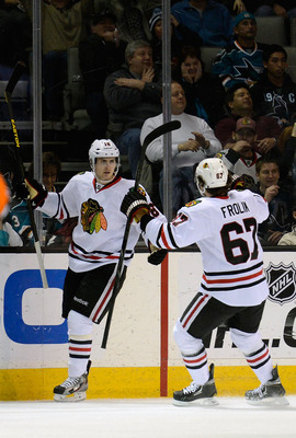 Michael Frolik and Marcus Kruger are the heart and soul of the Blackhawks' penalty-killing squad.