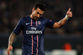 Ezequiel Lavezzi, who now plays for PSG in France.