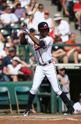 Newcomer B.J. Upton is liking his new digs, hitting .429 for the Braves this spring.