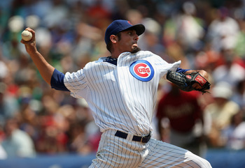 Matt Garza's early lat injury takes a bite out of the Chicago Cubs rotation.