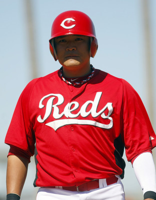 Outfielder Shin-Soo Choo has looked right at home with the Cincinnnati Reds.