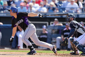Third base prospect Nolan Arenado is showing the Rockies that he's nearly ready for the majors this spring.