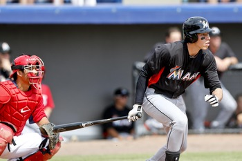 Young outfielder Christian Yelich has given the Miami Marlins much hope for the future.