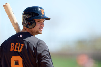 Brandon Belt will look to add more power this season for the Giants.