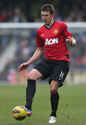 Carrick with the ball vs. QPR.