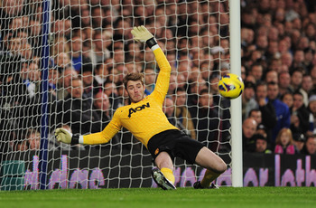 De Gea keeping a shot out vs. Chelsea.