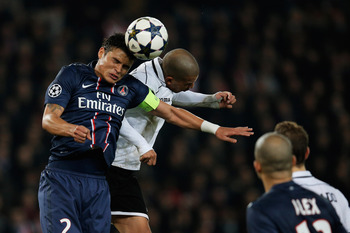 PSG central defender Thiago Silva
