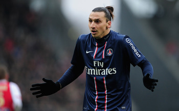 PSG forward Zlatan Ibrahimovic