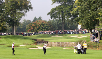 Laying up is the safe play at the 10th hole at The Belfry.