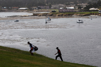 There's an uphill climb to the 6th green at Pebble Beach.