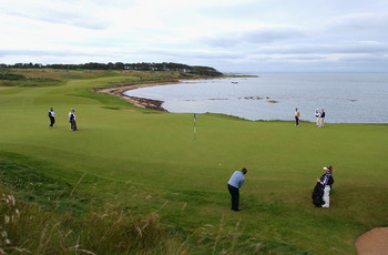 The 12th at Kingsbarns is a beautiful beast.