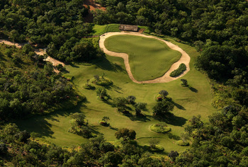 That's your target on the Xtreme 19th hole at Legends Golf & Safari Resort.