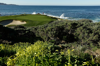 The green at Pebble Beach's seventh hole.