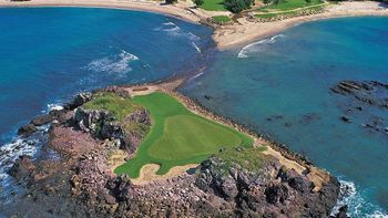 Now that's an island green, the second third hole at Punta Mita.