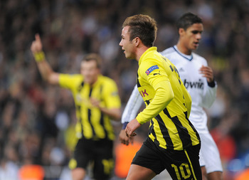 Gotze has formed part of a lethal attacking trio at Dortmund